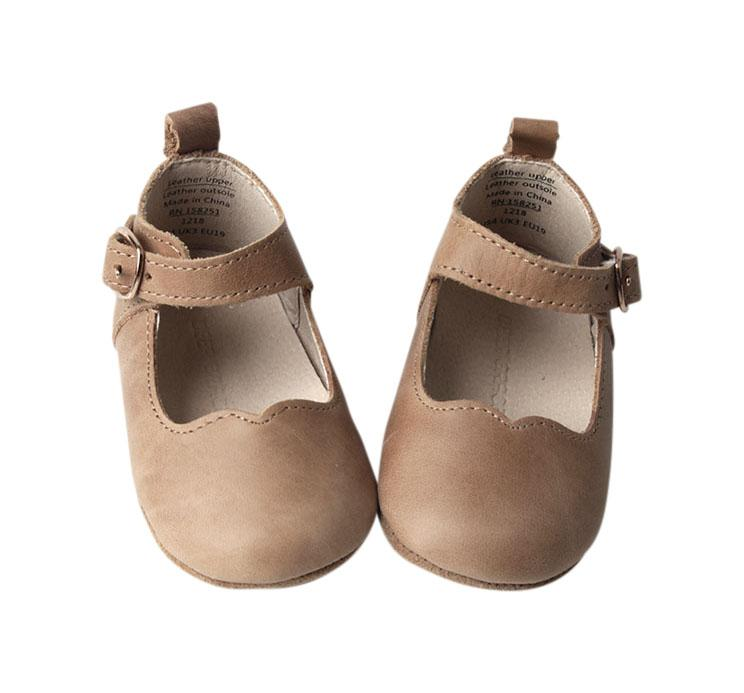 Camel - Mary Jane - US Size 2-4 - Soft Sole Shoes Deer Grace