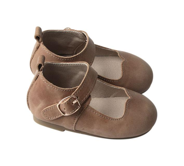 Camel - Mary Jane - US Size 5-8 - Hard Sole Shoes Deer Grace