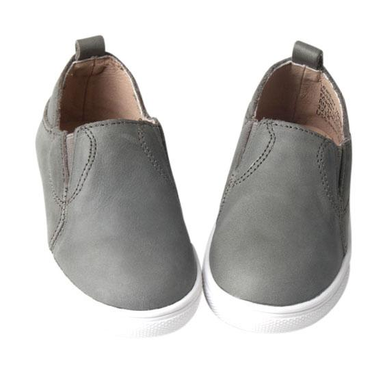 Gray - Slip On Sneakers - US Size 5-10 - Hard Sole Shoes Deer Grace