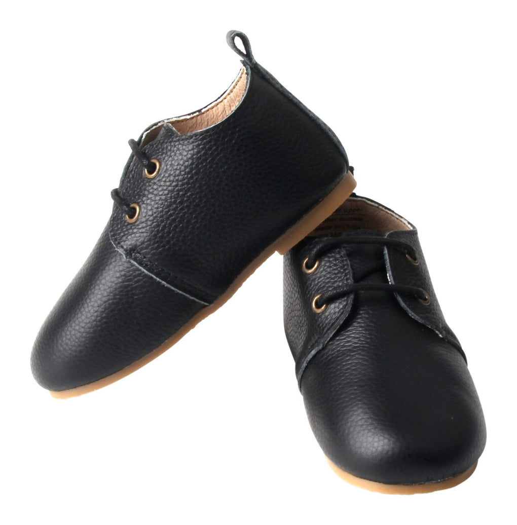 Black - Oxfords - US Size 5-8 - Hard Sole Shoes Deer Grace