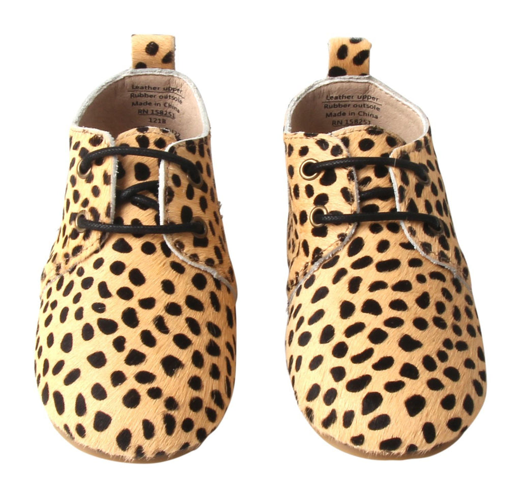 Cheetah - Oxfords - US Size 5-8 - Hard Sole Shoes Deer Grace