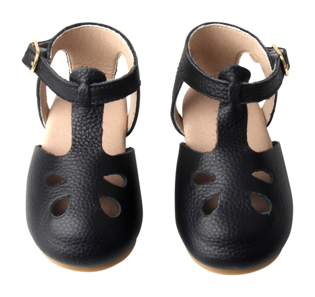 Midnight - Grace Flat - US Size 5-8 - Hard Sole Shoes Deer Grace