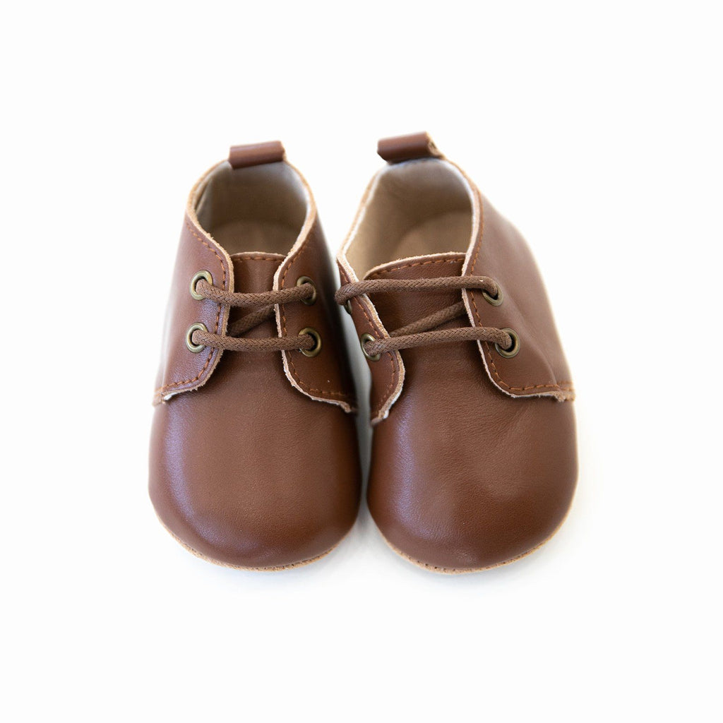 Chocolate - Oxford - US Size 2-5 - Soft Sole Shoes Deer Grace