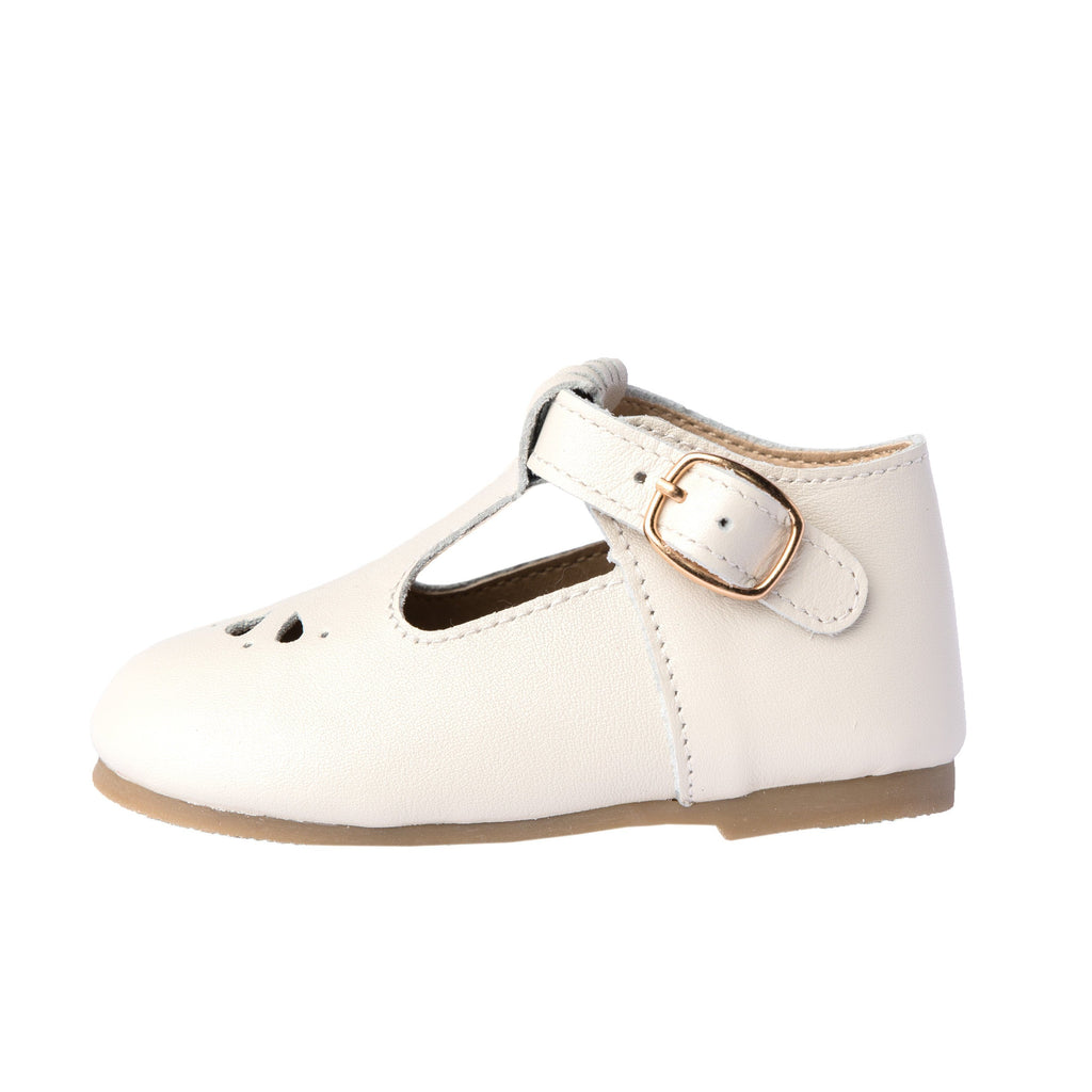 Cream - Daisy T-Bar - Hard Sole Shoes Deer Grace