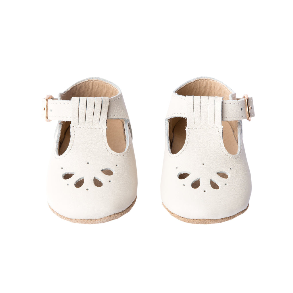 Cream - Daisy T-Bar - Soft Sole Shoes Deer Grace