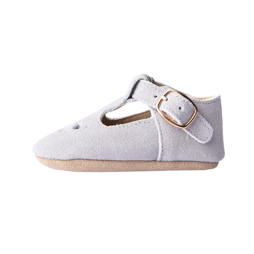 Slate Suede - Daisy T-Bar - Soft Sole Shoes Deer Grace