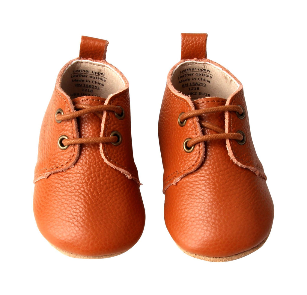 Camel - Oxford - US Size 1-4 - Soft Sole Shoes Deer Grace