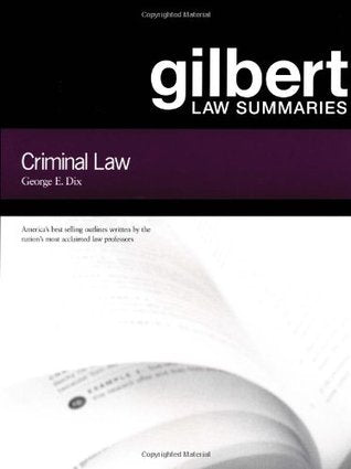 Gilbert Law Summaries : Criminal Law 17th Edition - Book Crate