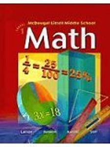 McDougal Littell Middle School Math: Student Edition Course 1 2005 - Book Crate