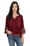 Nasiba Blouse- Cranberry