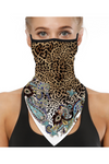Snow Leopard Chic Face Mask + Gaiter Scarf With Filters