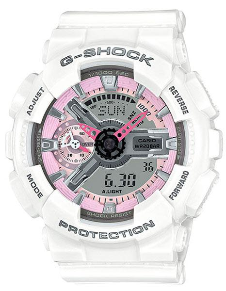 Casio G-Shock S Series - White - Magnetic Resistant - 200M - Date - Stopwatch
