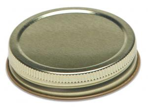 70MM Continuous Thread Gold Lid