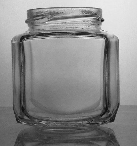 9 oz Oval Hexagon Jar