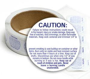 Large Caution Labels