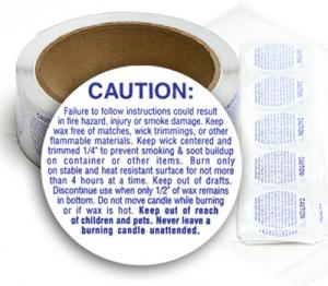 Small Caution Labels