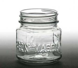 Square Mason Jar 8oz.