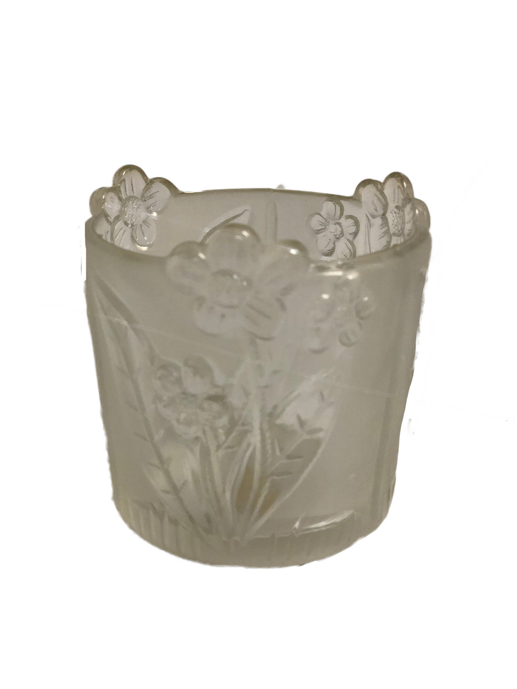4 oz. Votive, Daisy Frosted- 24 pieces