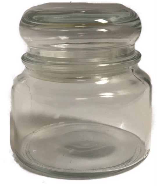 Round Jars with Bubble Lid- case of 12