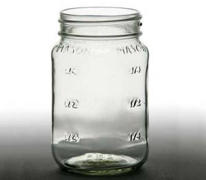 Square Mason Jar 16 oz.