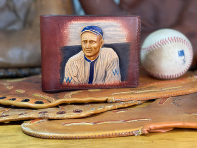 Walter Johnson Carved Leather Art Wallet