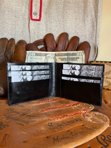 Josh Gibson Carved Leather Art Wallet with C.O.A.