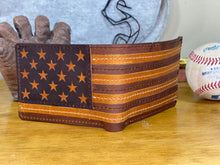 Nokona Stars and Stripes Wallet- Natural