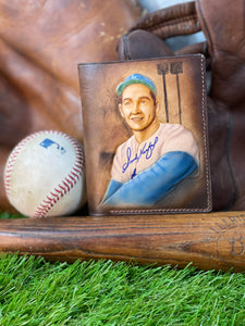 Sandy Koufax Carved Leather Art Wallet