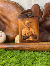 Roberto Clemente Carved Leather Art Wallet