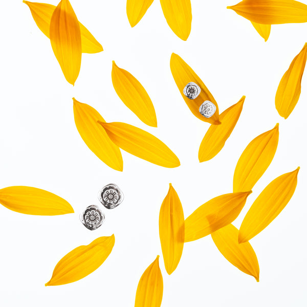 Marigold Studs Sterling Silver