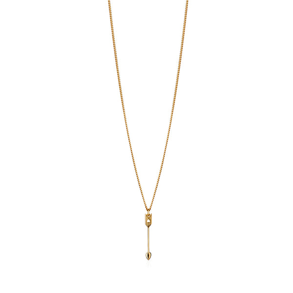 Arrow Petite Pendant 9CT Gold