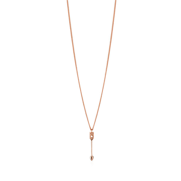 Arrow Petite Pendant Rose Gold