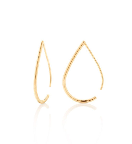 Boh Runga Jewellery Droplet Hoops Gold