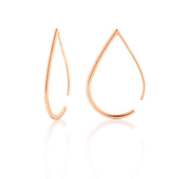 Boh Runga Jewellery Droplet Hoops Rose Gold