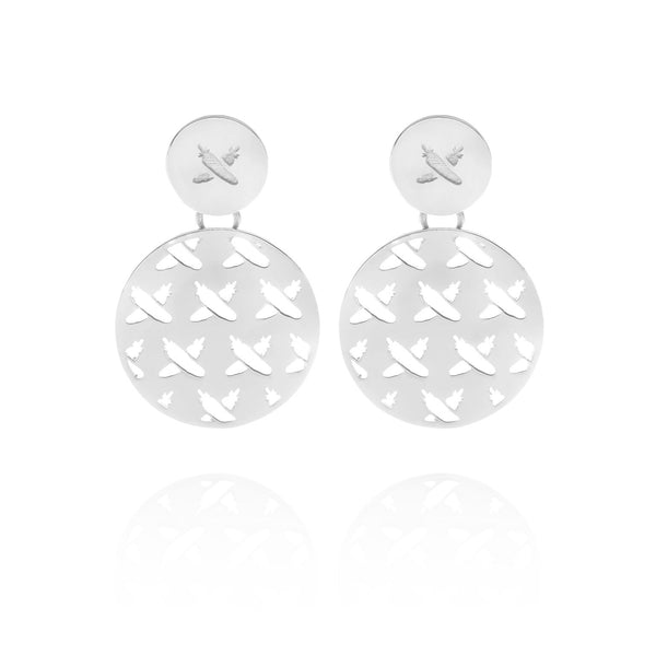 Discologo Medium Earrings Silver