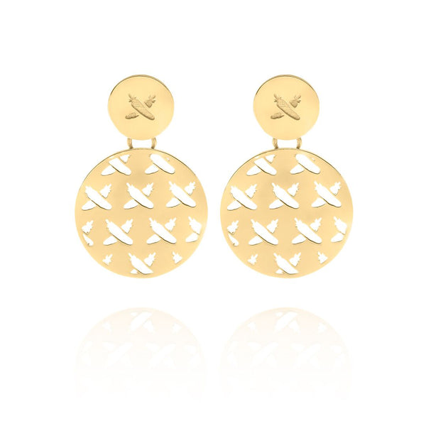 Discologo Medium Earrings 9CT