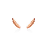 Boh Runga Miromiro Feather Studs Rose Gold