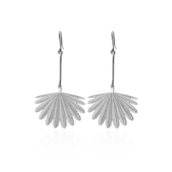 Boh Runga Messenger Stories Fan Tail Earrings