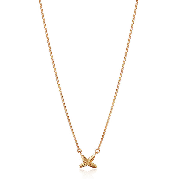 Boh Runga Feather Kisses Petite Pendant 9CT Gold
