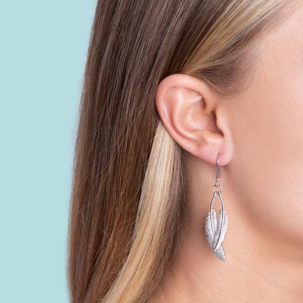 Boh Runga Jewellery Duo Miromiro Feather Earrings