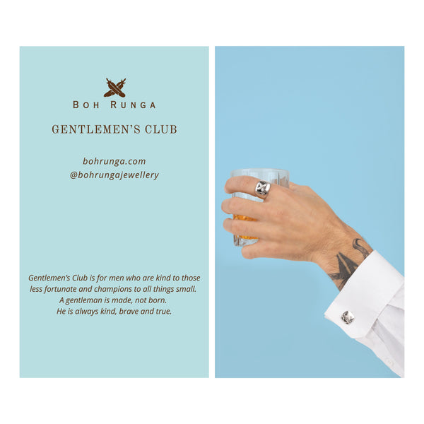 Boh Runga Jewellery Gentlemen's Club Story Card