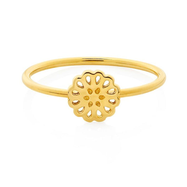 Boh Runga Lotus Ring Gold
