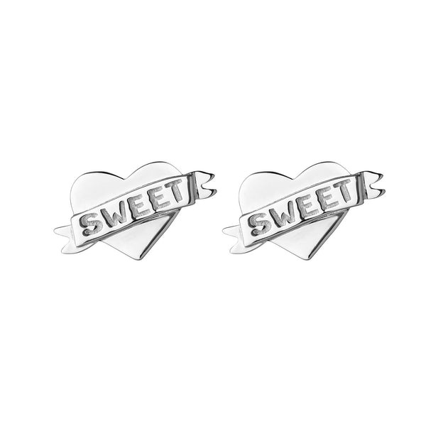 Boh Runga Little Sweetheart Studs Silver