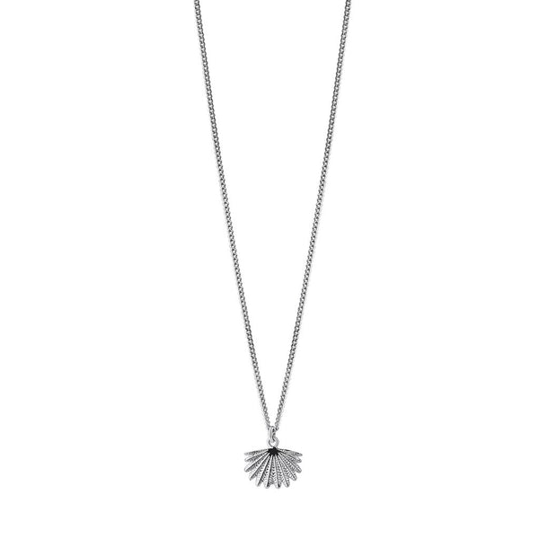 Boh Runga Mini Fan Tail Pendant Silver