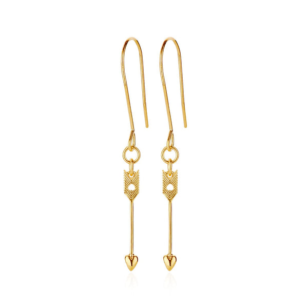Boh Runga Arrow Earrings Gold