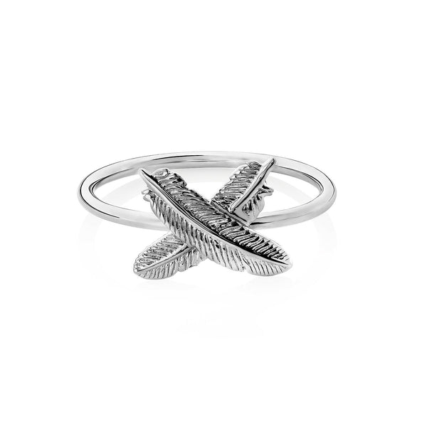 Boh Runga Feather Kisses Ring Silver