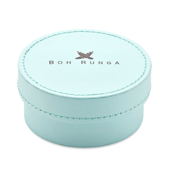 Boh Runga Large Blue Round Box