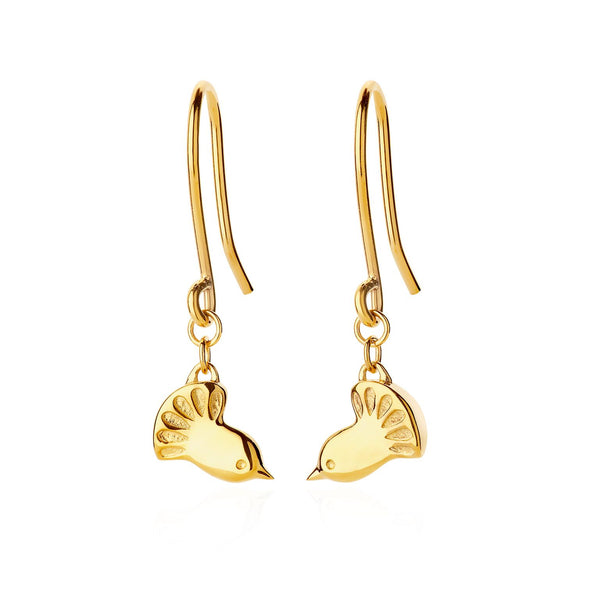 Boh Runga Fantail Earrings 9CT Gold