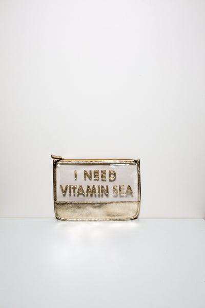 Clear and Gold Clutch
