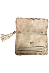 Stone Diamond Cut Clutch